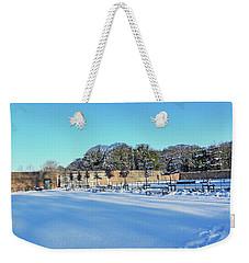 Walled Garden In The Snow Weekender Tote Bag