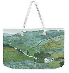 Weekender Tote Bag featuring the drawing Waste Land by Ivar Arosenius