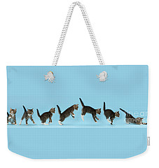 Weekender Tote Bag featuring the photograph Watch. This Is How I Attack. by Warren Photographic