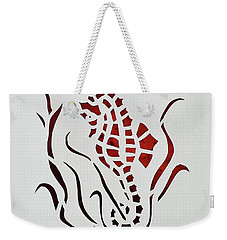 Weekender Tote Bag featuring the mixed media Water Pony by Phyllis Howard