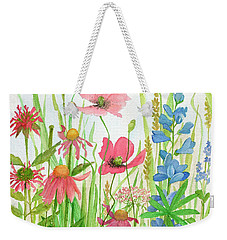 Watercolor Touch Of Blue Flowers Weekender Tote Bag