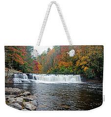 Waterfall In Autumn Weekender Tote Bag