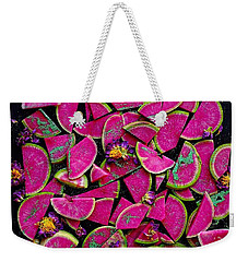 Watermelon Radish Edges Weekender Tote Bag