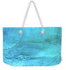 Wave Action Turquoise Weekender Tote Bag