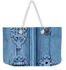 Weathered Blue Door Lock Weekender Tote Bag