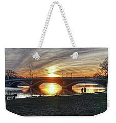 Weeks Bridge At Sunset Weekender Tote Bag
