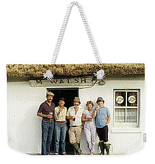 Weekender Tote Bag featuring the photograph Well Worth The Drive Accros Lough Mask  by Val Byrne