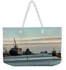 Welland Canal Ships Weekender Tote Bag