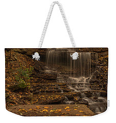 Weekender Tote Bag featuring the photograph West Milton Falls In Autumn by Dan Sproul
