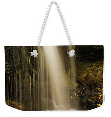 Weekender Tote Bag featuring the photograph West Milton Falls Vertical by Dan Sproul