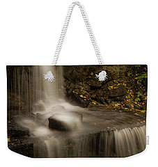 Weekender Tote Bag featuring the photograph West Milton Waterfall Details by Dan Sproul