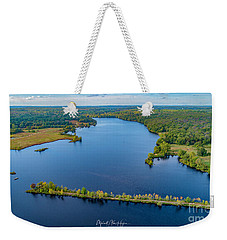 Weekender Tote Bag featuring the photograph West Thompson Lake by Michael Hughes
