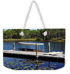 Western Lake Weekender Tote Bag