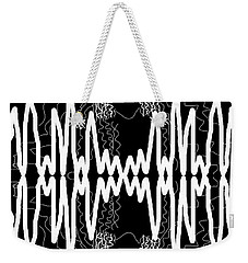 White And Black Frequency Mirror Weekender Tote Bag