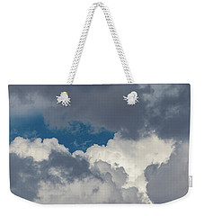 White And Gray Clouds Weekender Tote Bag