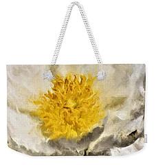 White Peony Weekender Tote Bag