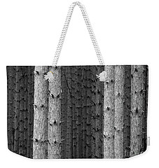 White Pines Black And White Weekender Tote Bag