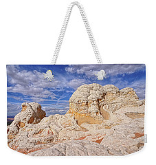 Weekender Tote Bag featuring the photograph White Pocket Scenic by Theo O'Connor