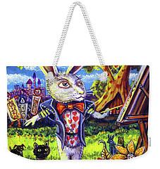 White Rabbit Alice In Wonderland Weekender Tote Bag