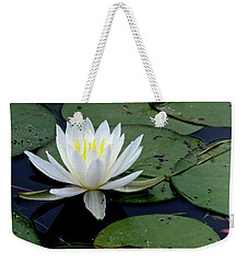 White Water Lilly Weekender Tote Bag