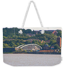 Wigg Island Swingbridge Weekender Tote Bag