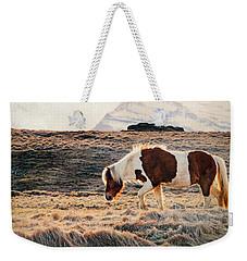 Wild Icelandic Horse Weekender Tote Bag
