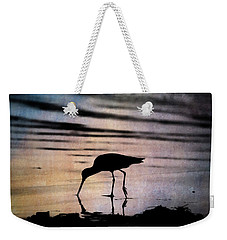 Weekender Tote Bag featuring the photograph Willet At Sunset by John Rodrigues
