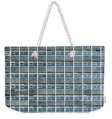 Weekender Tote Bag featuring the photograph Windows Pattern Modern Architecture by Jacek Wojnarowski