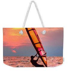 Windsurfing At Sunrise Weekender Tote Bag
