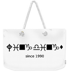 Wingdings Since 1990 - Black Weekender Tote Bag