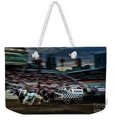 Weekender Tote Bag featuring the photograph Winning Finish by Brad Allen Fine Art