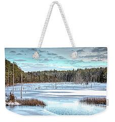 Winter At Lake Oswego Weekender Tote Bag