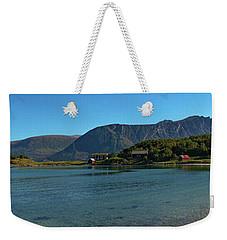 Winter Beach In Norway Weekender Tote Bag