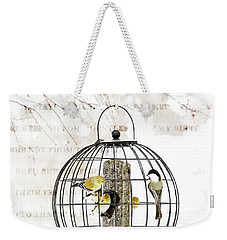 Winter Bird Feeder  Weekender Tote Bag