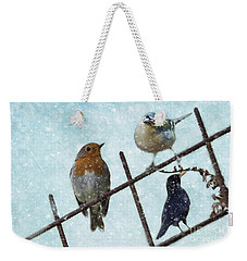 Winter Birds Weekender Tote Bag