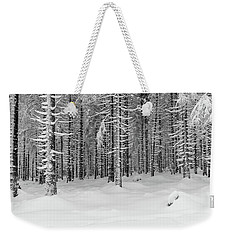 winter forest, Harz Weekender Tote Bag