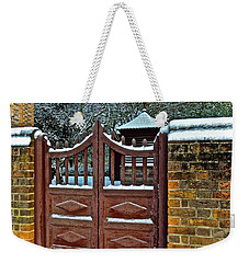 Weekender Tote Bag featuring the photograph Winter Gate by Don Moore