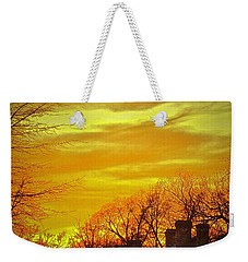 Weekender Tote Bag featuring the photograph Winter Gold by Don Moore