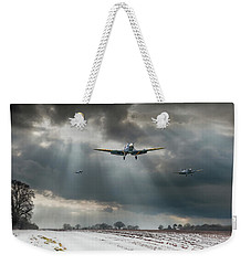 Weekender Tote Bag featuring the photograph Winter Homecoming by Gary Eason