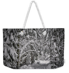 Weekender Tote Bag featuring the photograph Winter In The Forest by Edmund Nagele