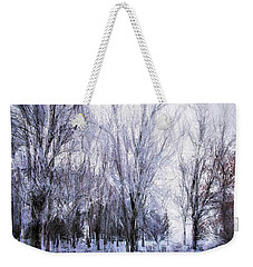 Winter Lace Weekender Tote Bag