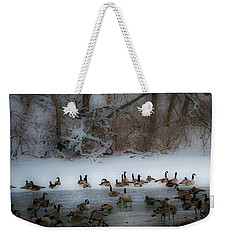 Winter Swim Weekender Tote Bag