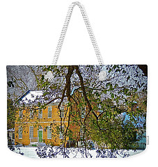 Weekender Tote Bag featuring the photograph Winter White by Don Moore