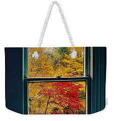 Winter Window Weekender Tote Bag
