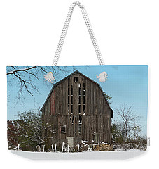 Weekender Tote Bag featuring the photograph Wisconsin Barn by Kim Hojnacki