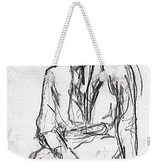 Woman In A Hat Drawing Weekender Tote Bag