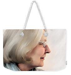 Woman In Grey Weekender Tote Bag