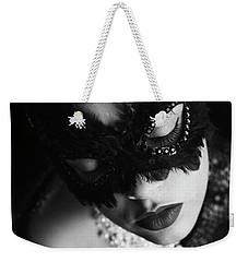 Woman With Elegant Mask Weekender Tote Bag