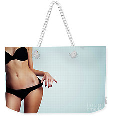 Woman With Perfect Figure And Skin.  Weekender Tote Bag