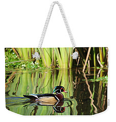 Wood Duck Reflection 1 Weekender Tote Bag